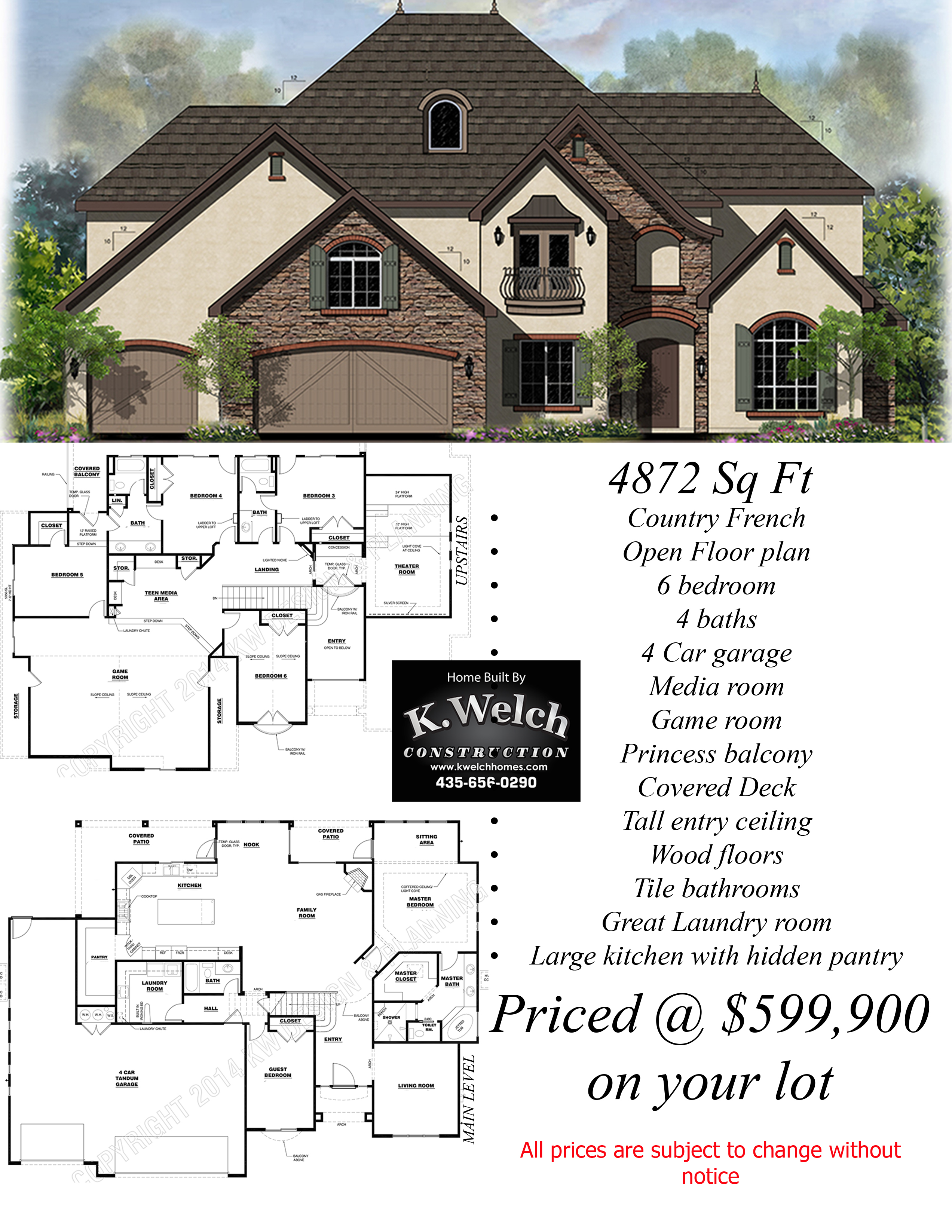 Above 4500 Sq Ft K Welch Homes