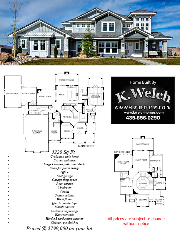 Above 4500 sq ft k welch homes for 4500 sq ft house plans