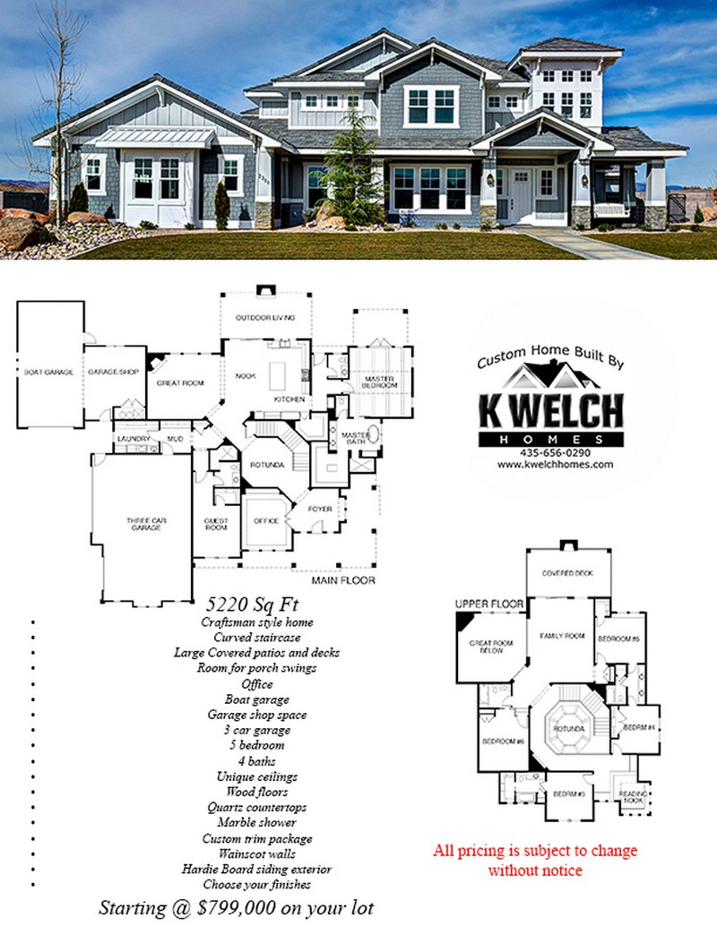 Above 4500 sq ft k welch homes for 4500 sq ft home